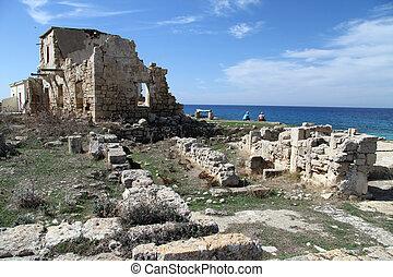 Ayios Philion - Ruins of church Ayios Philion near...