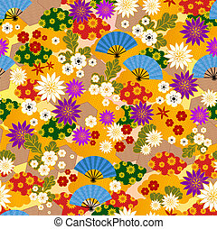 japanese kimono pattern - seamless pattern of japanese...