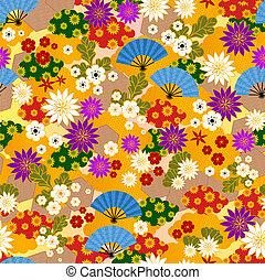 japanese kimono pattern - seamless pattern of japanese...