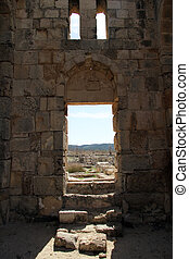 Door of church - Door of Ayios Philion church near...