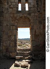 Door of church - Door of Ayios Philion church near...