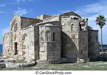 Ruins of Ayios Philion church near Dipkarpas in North Cyprus