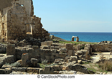 Ayios Philion - Ruins of Ayios Philion greek church near...