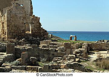 Ayios Philion - Ruins of Ayios Philion greek church near...