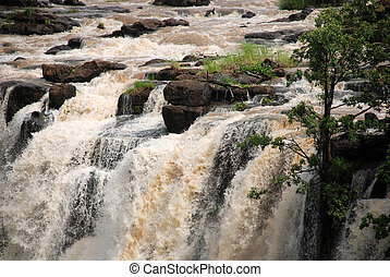 Zambezi river at Victoria Falls(Zambia)