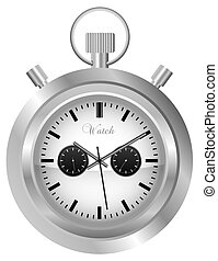 Pocket Watch - Illustration of Pocket Watch - Isolated on...