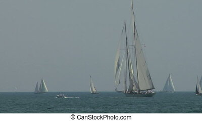 old sail regatta 07 - Old sailing boat in Mediterranean Sea...