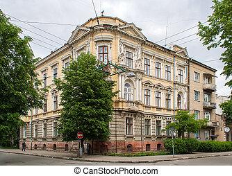 建物, 都市, 歴史的,  ivano-frankivsk, 中心
