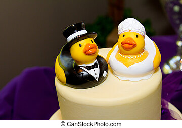 Rubber Duck Cake - Rubber ducks are the cake toppers for...