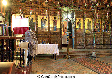 Inside church of Apostole Andrey in Karpas, North Cyprus