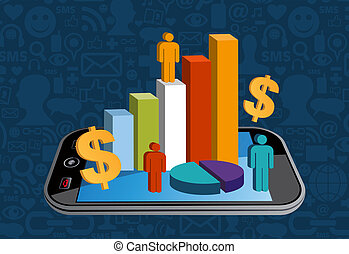 Smart phone financial activity - Cell phone business...