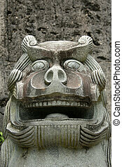 Lion Statue - Shuri Castle, Naha , Okinawa, Japan