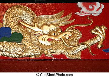 Dragon art - Shuri Castle, Naha , Okinawa, Japan