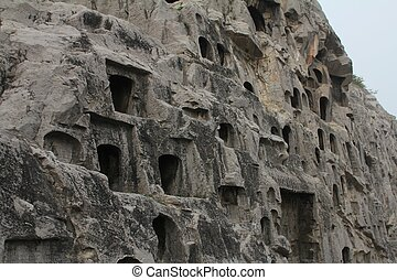 Man-carved grottoes in Luoyang, China - Man-carved Longmen...
