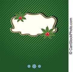 Christmas holiday card, ornamental design elements