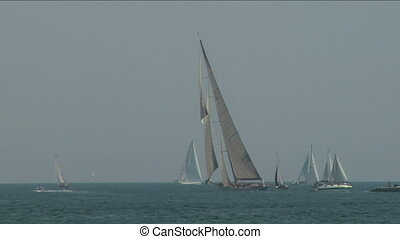 old sail regatta 16 - Old sailing boat in Mediterranean Sea...