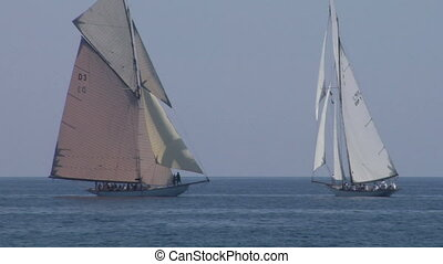 old sail regatta 21 - Old sailing boat in Mediterranean Sea...