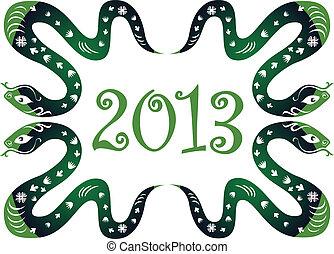 serpent, nouveau, année, 2013