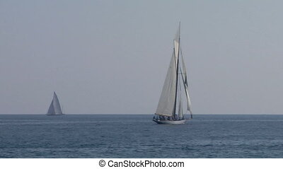 old sail regatta 24 - Old sailing boat in Mediterranean Sea...