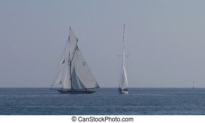 old sail regatta 26 - Old sailing boat in Mediterranean Sea...