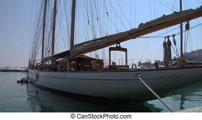 old sail wharf 06 - An old sailing ship at dockside