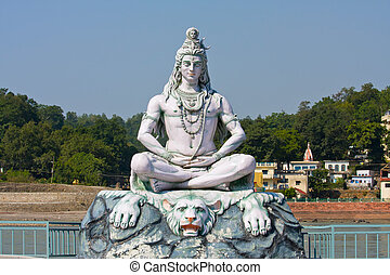 rishikesh,  shiva,  India, estatua