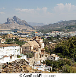 Antequera Castle - View Antequera Castle wall located in the...