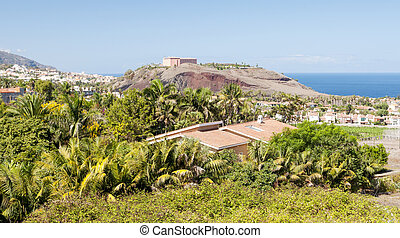 Orotava valley - Seen from a viewpoint Orotava valley with...