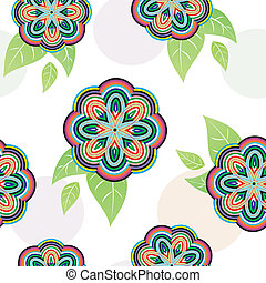 Floral vivid seamless pattern with