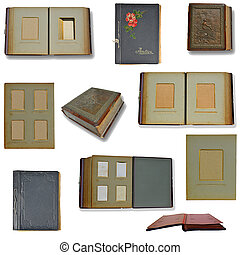 Retro collection of photo albums - harvesting of old, retro...