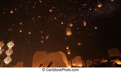 flying lantern launching