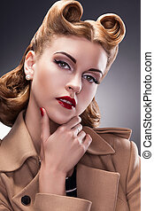 Classy and Trendy Woman in Pin Up Retro Style - Proud Person