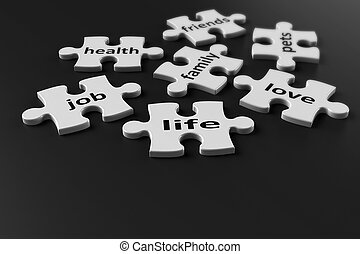 Puzzle pieces of life - Life is like a puzzle..Life consists...