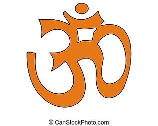Om - the symbol of yoga - mantra aum