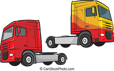 truck and lorry - large truck - transport and cargo