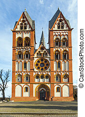 gothic dome in Limburg, Germany in beautiful colors - famous...