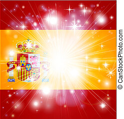 Spanish flag background - Flag of Spain background with...