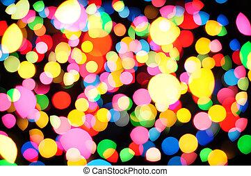 Defocused of christmas light