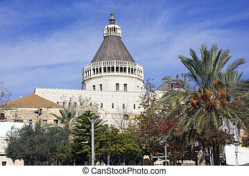 Basilica of the Annunciation in Nazareth, Israel - The...