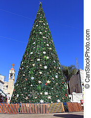 Christmas tree in Nazareth, Israel