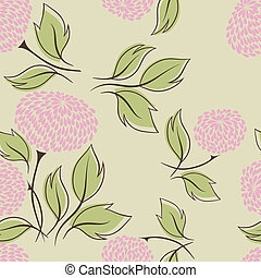 Vector illustration of flowers (Seamless Pattern)