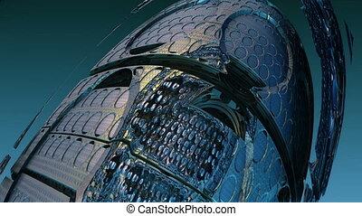 broken alien spaceship n1447