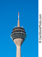television tower - top of the Rhine Tower Rheinturm...