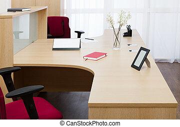 desk in modern office