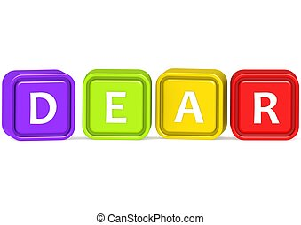 Dear - Rendered artwork with white background