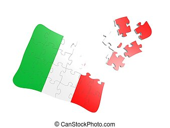 Italy flag puzzle