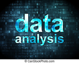 Information concept: data analysis on digital background -...
