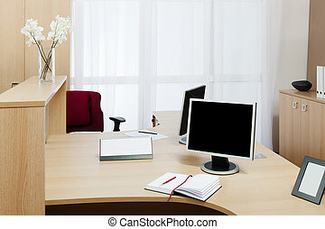 monitor on a desk