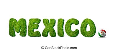 Mexico soccer - Illustration with Mexico soccer on white...