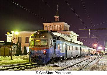Diesel suburban train